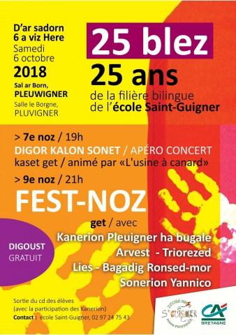 PLUVIGNER - 25 ans de la filière bilingue à Pluvigner