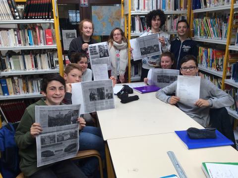 STE ANNE D'AURAY - Des collégiens de la filière bilingue découvrent la semaine de la presse