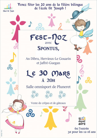 PLUNERET - Fest-noz - 20 ans de la filière bilingue de l'école St Joseph