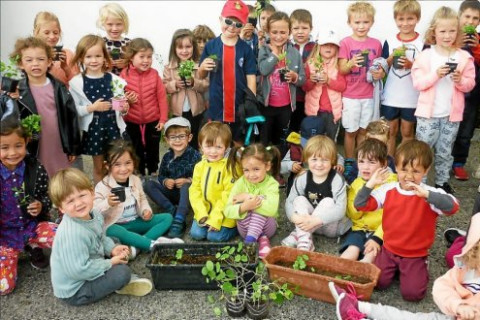 CARNAC - École Saint-Michel. Le cycle de la vie en breton
