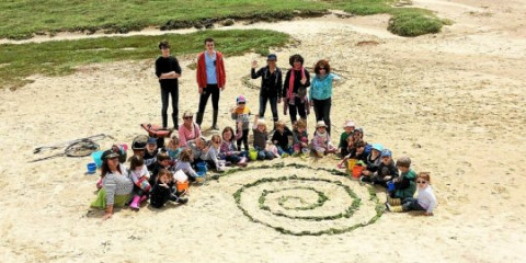 LANNILIS -  Sacré-Cœur. Les maternelles bilingues à la plage