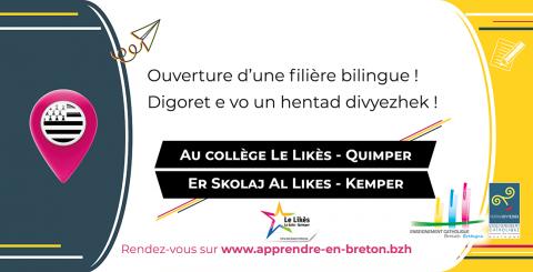 QUIMPER - Ouverture de la filière bilingue au collège Le Likès