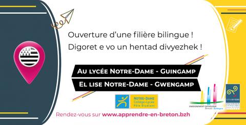 GUINGAMP - le lycée ouvre une filière bilingue