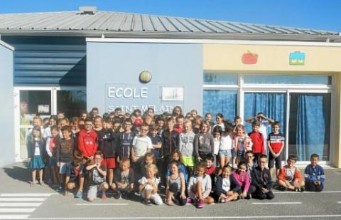 PLUMELIN - École Saint-Mélaine. La rentrée pour les 151 élèves
