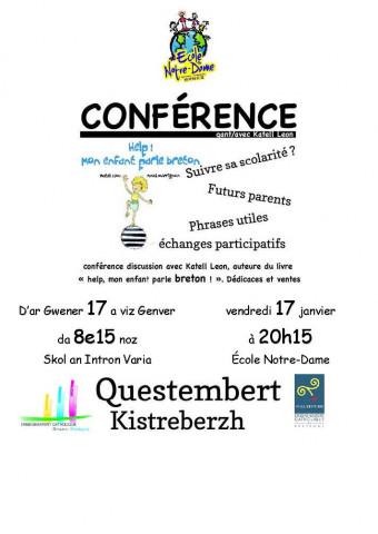 [ANNULE] QUESTEMBERT - Conférence sur le bilinguisme