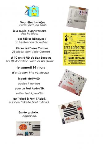 PLONEOUR et PONT L'ABBE - Un belle fête en prévision pour l'anniversaire de la filière bilingue !