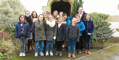 MUZILLAC - Les élèves de l'école Sainte-Bernadette à la rencontre de l'historien François Ars