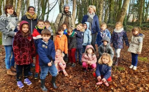 GUILERS - Le bois de Kéroual en hiver