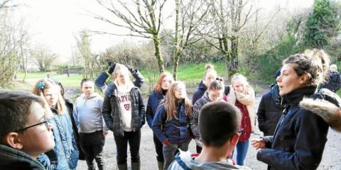 LANDIVISIAU - Une sortie en forêt pour les collégiens de Saint-Joseph