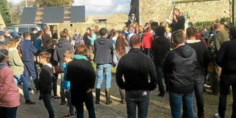 PLABENNEC - Dihun Plabenneg en visite à la Bergerie des Abers