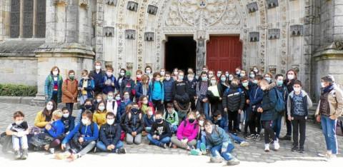 SAINT-RENAN - Sortie pédagogique à Quimper pour la filière bilingue breton de Saint-Stanislas
