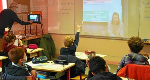 LANDERNEAU - L'école Saint-Julien suit une séance à distance avec Océanopolis