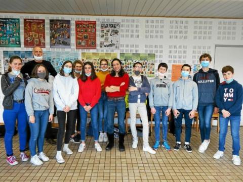 LANNILIS - Les bilingue du collège Saint-Antoine La Salle découvrent le combat de Malala avec Tifenn Linéatte