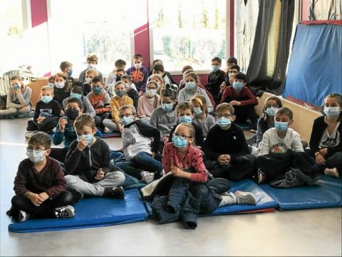 GUISSENY - L'importance de la ressource en eau expliquée aux écoliers de Sainte-Jeanne-d'Arc