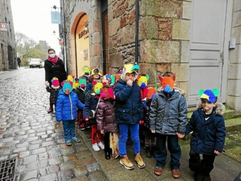 DINAN - Les écoliers du Sacré-Cœur défilent pour Mardi-Gras