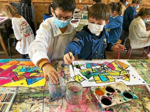FOUESNANT - Les écoliers de Notre-Dame en immersion artistique