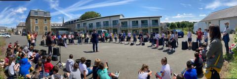 LANNION - Dernière séance de la Klas Deskiñ à l'école Jeanne d'Arc
